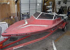 Minnetonka Boat Painting