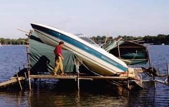 Boat Repairs After a Storm in MN