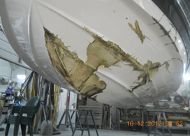 Fiberglass Repair Before