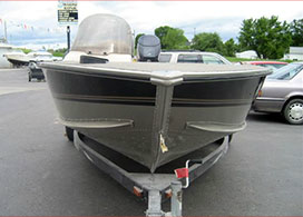 Aluminum Storm & Collision Damage Boat Repair