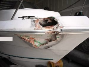 chaparral boat collision repair