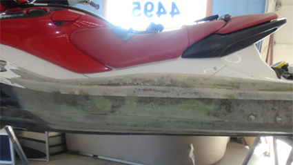 Damaged Jetski During Repairs
