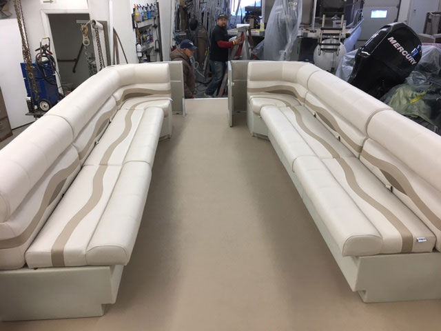 Picture of Pontoon Carpet and Seats After Repair